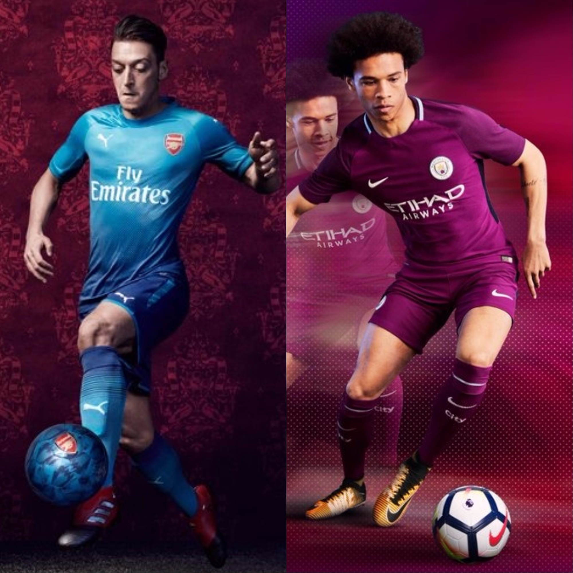 New away kits by Arsenal and Manchester City for 2017 18 ... 3b3aa43b7