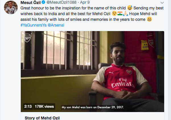 Little Ozil from Kerala making waves around the world!